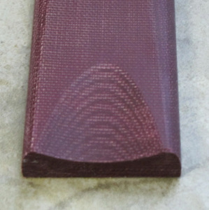 "Canvas Micarta bordeaux 6,5 mm -""double red coral"""